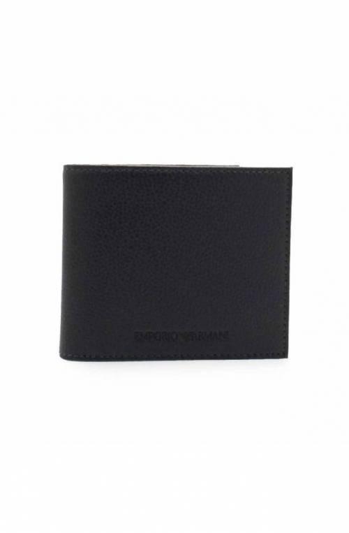 Emporio Armani Wallet BI-FOLD Male Leather Blue navy - Y4R168-YEW1E-80033
