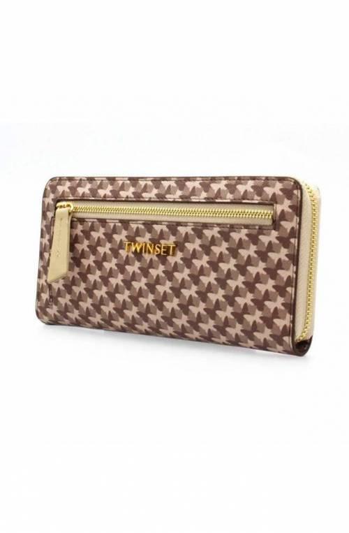 TWIN-SET Wallet Female Brown - Beige - 191TA7177-03658