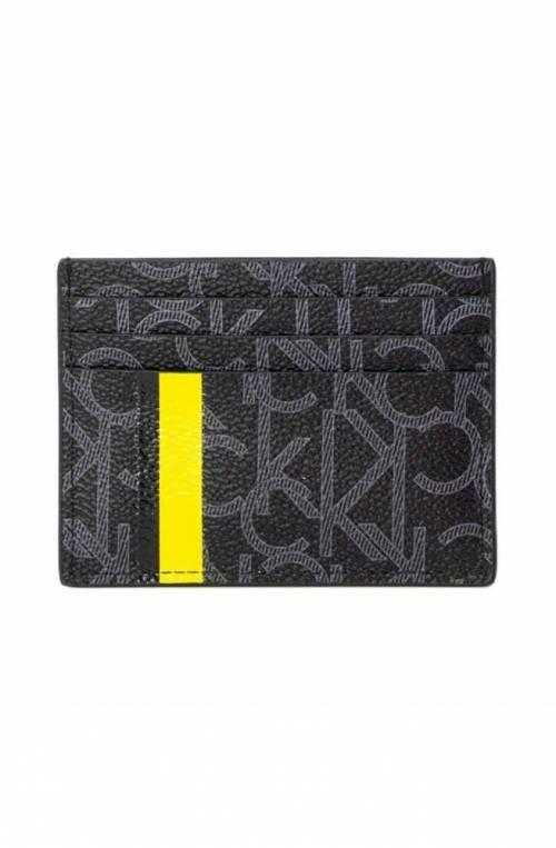 CALVIN KLEIN Credit card case MONO Male Black - K50K504455001