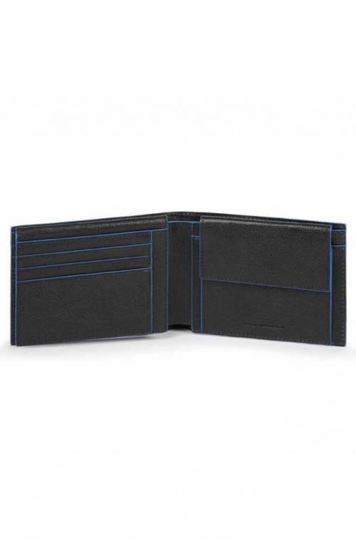 Portafoglio PIQUADRO Blue Square Uomo Pelle Nero - PU1392B2SR-N