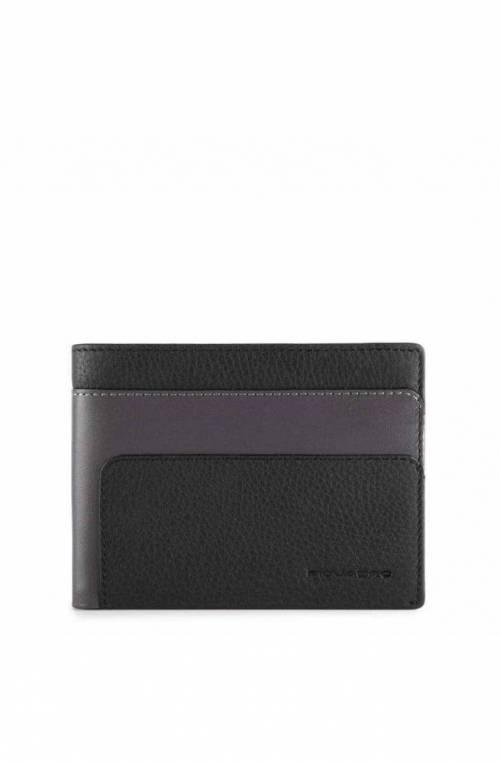 PIQUADRO Wallet Feels Male Leather Black - PU1241S97R-N