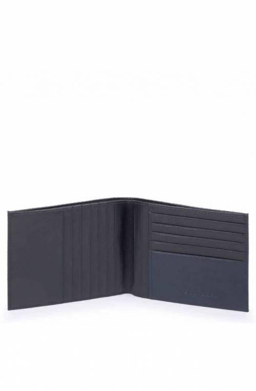 Portafoglio PIQUADRO Uomo pelle e tessuto Blu - PU1241S100-BLU