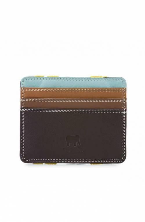 MYWALIT porta tarjetas de crédito Hombre Cuero Mocha - 111-128