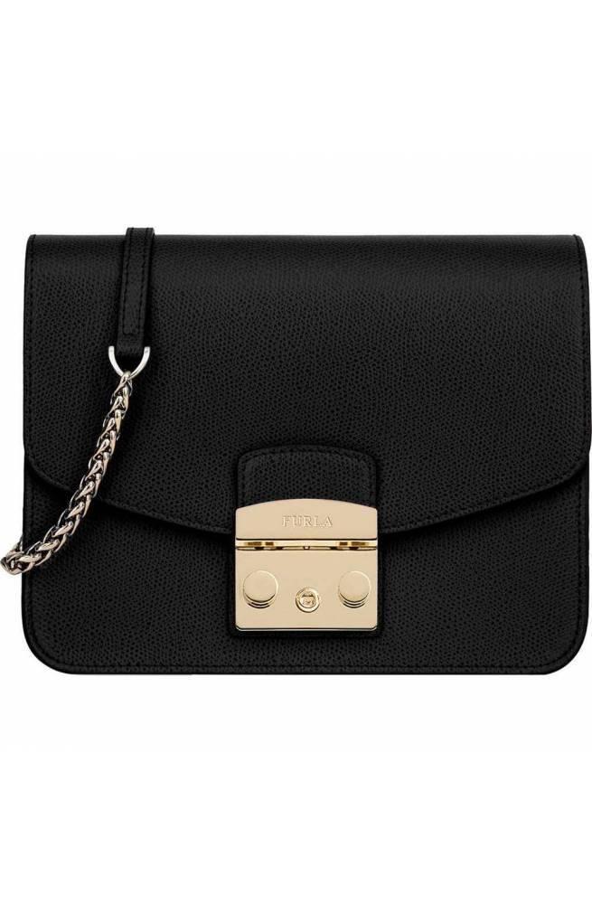 f6a817e734 FURLA Bag Metropolis Female Leather Black - 941911 - PoppinsBags