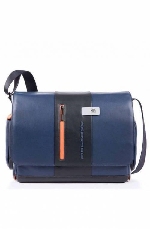 PIQUADRO Bolsa Urban Hombre Messenger Cuero Azul-gris - CA1592UB00-BLGR