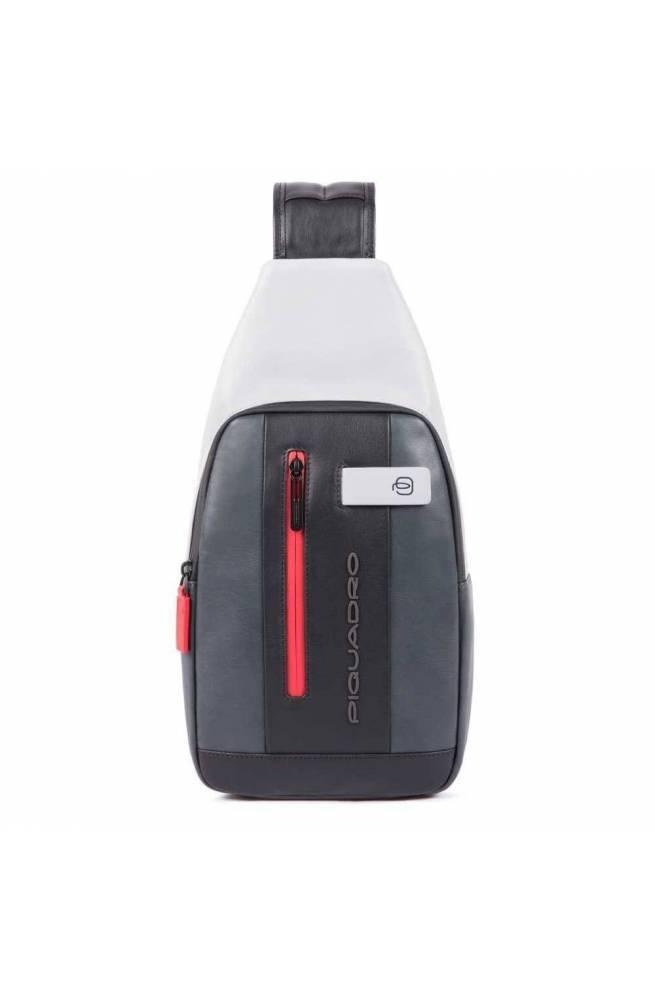 PIQUADRO Bag Urban Male Mono sling Grey-Black - CA4536UB00-GRN