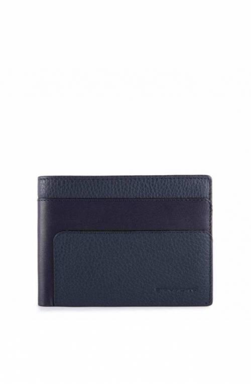 PIQUADRO Wallet Feels Male Leather Blue - PU257S97R-BLU