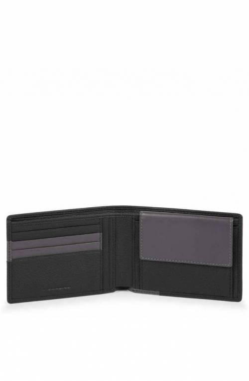 PIQUADRO Wallet Feels Male Leather Black - PU257S97R-N