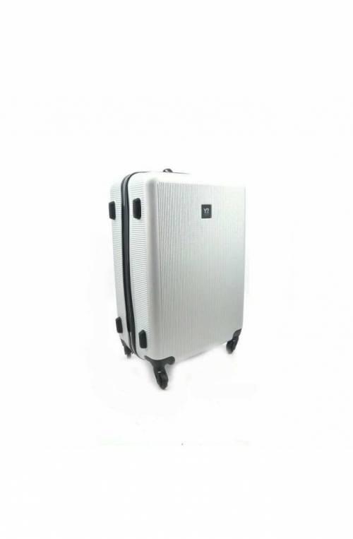 Trolley YNOT Argento Trolley TSA lock + USB PLUG Unisex - L11002PE19-SILVER