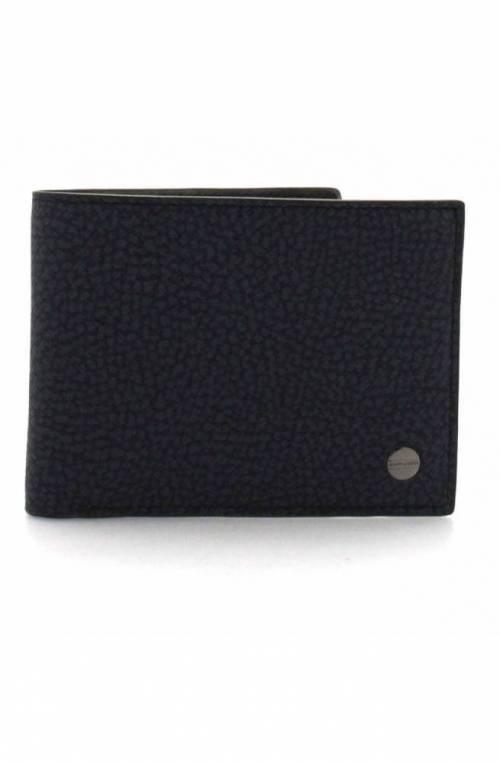 BORBONESE Wallet Male Blue-grey - 940342-H42-801