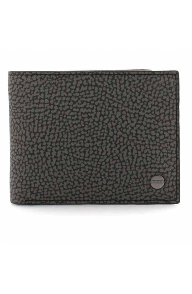 BORBONESE Wallet Male Grey-Black - 940342-H42-148