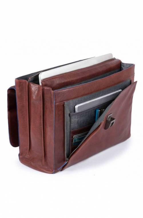 PIQUADRO Bag Blue Square briefcase Leather Brown - CA4745B2S-TM
