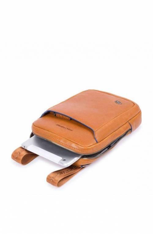 PIQUADRO Bag Blue Square Male Leather Brown - CA3084B2S-TM