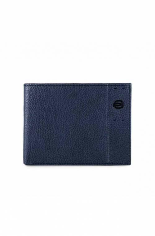 PIQUADRO Wallet P15Plus Male Leather Blue - PU257P15S-BLU2