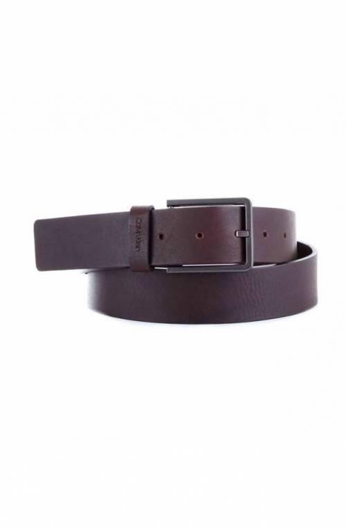 Cintura CALVIN KLEIN NEW ESSENTIAL Uomo Pelle 95 Marrone - K50K504889BAW-95