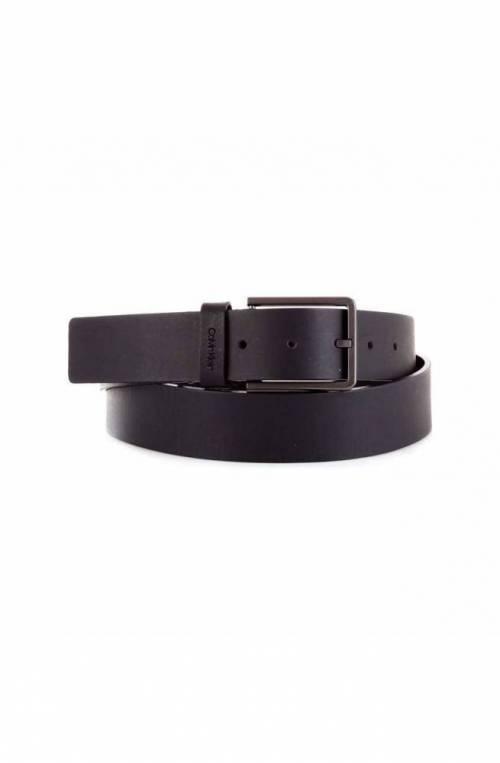 CALVIN KLEIN Belt NEW ESSENTIAL Male Leather 95 Black - K50K504889BDS-95