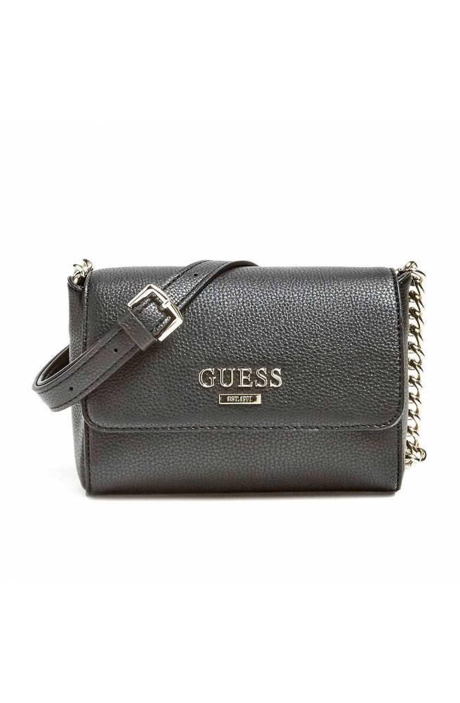 c66e12ce51e GUESS Bag ALMA MINI Female Black - HWVG7401780BLA - PoppinsBags