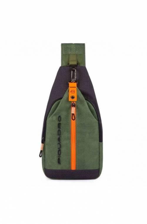 PIQUADRO Bag Blade Male Mono sling Green - CA4536BL-VE
