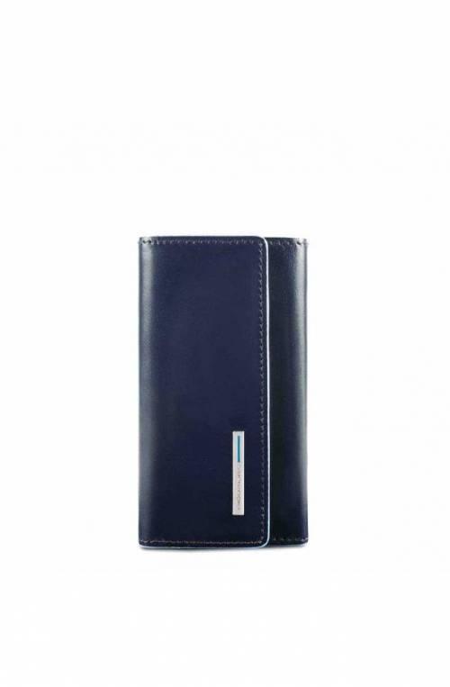 Portachiavi PIQUADRO Blue Square Blu Pelle - PC4521B2-BLU2