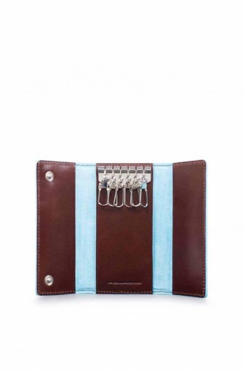Portachiavi PIQUADRO Blue Square Marrone Pelle - PC4521B2-MO