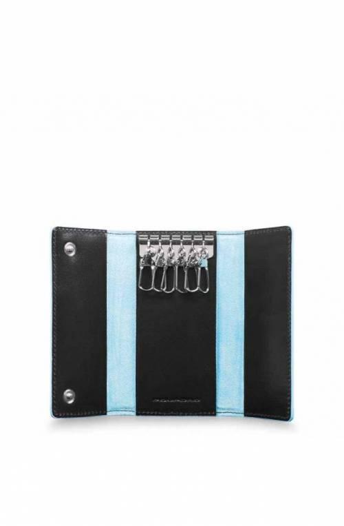 Portachiavi PIQUADRO Blue Square Nero Pelle - PC4521B2-N
