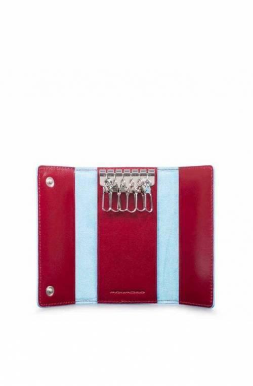 Portachiavi PIQUADRO Blue Square rosso Pelle - PC4521B2-R