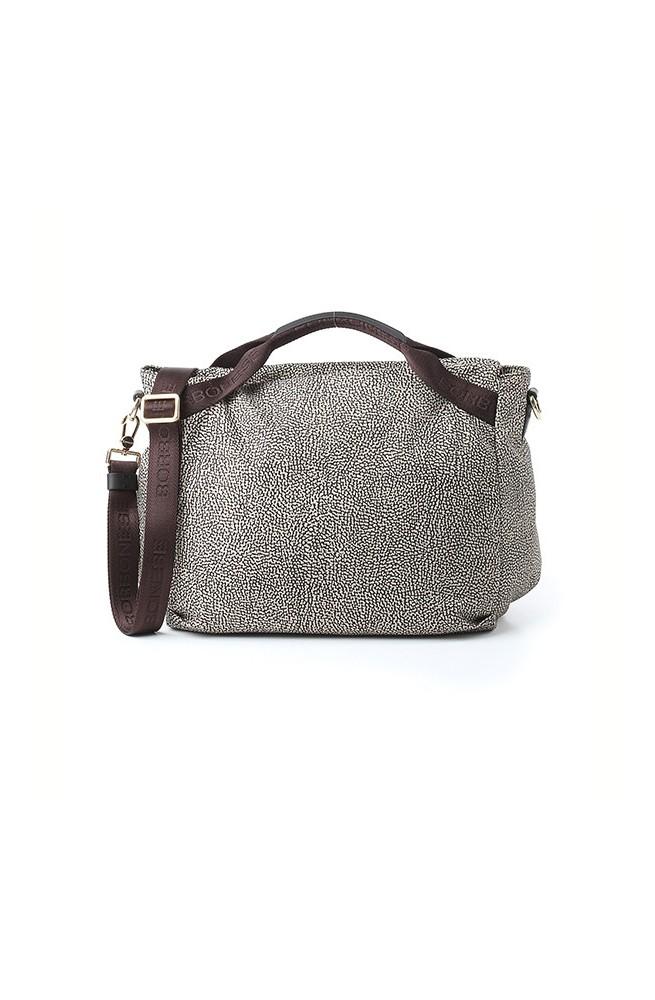 BORBONESE Bag Female O.P.NATURAL/BROWN - 934778-296-C45
