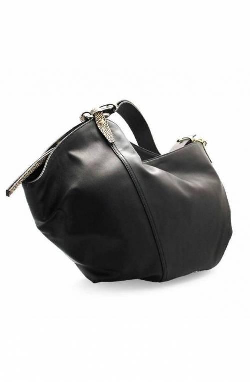 BORBONESE Bag Female Leather Natural, Black - 963834-H96-480