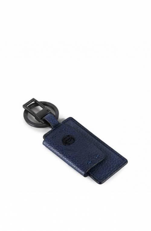 Portachiavi PIQUADRO P15S Blu Acciaio, pelle Unisex - PC4164P15S-BLU2