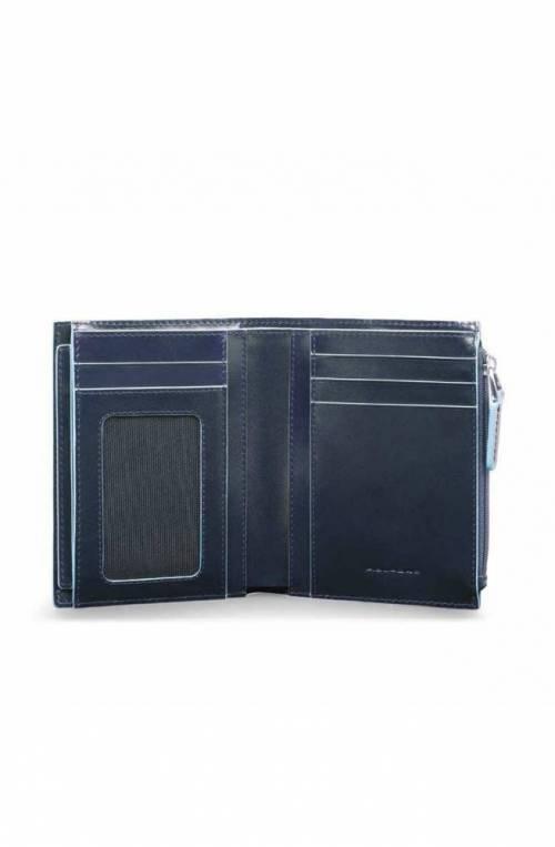 Portafoglio PIQUADRO RFID Blue Square Uomo Pelle Blu - PU4519B2R-BLU2