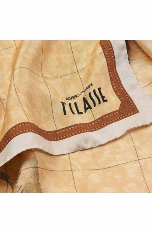 ALVIERO MARTINI 1° CLASSE Scarf Female Silk 90 X 90 Cream - 3190ALOE-0920