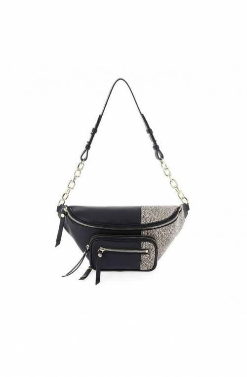 BORBONESE Bag Female Leather Natural, Black - 963849-H96-480
