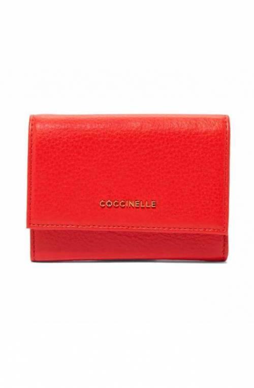 Portafoglio COCCINELLE METALLIC SOFT Donna Pelle Rosso - E2FW5111001R08