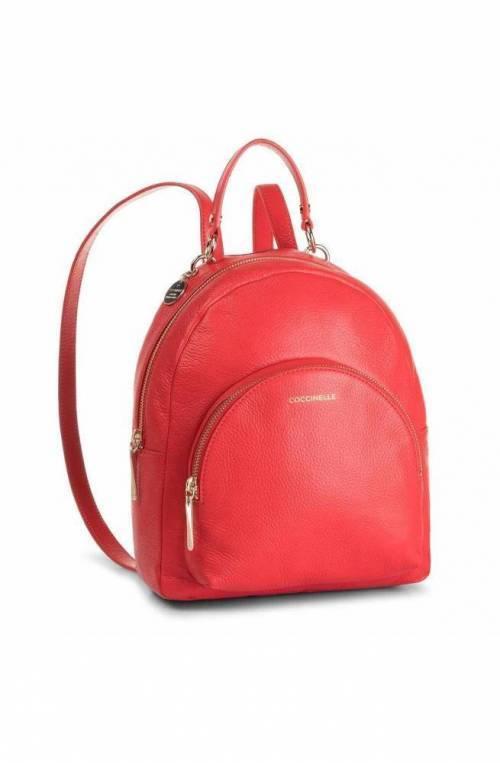 COCCINELLE Mochila ALPHA Mujer Cuero Rojo - E1ES5140101R08