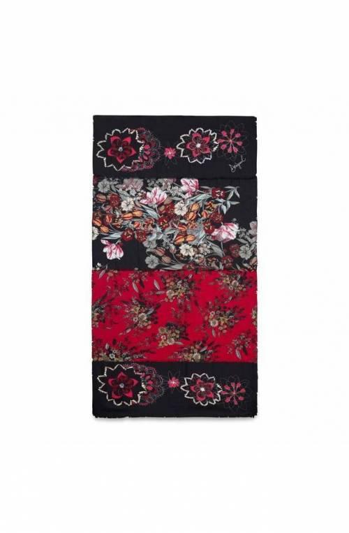 DESIGUAL Scarf FOUL_FLOWER PATCH Female Multicolor Black - 19WAWA45-2000-U