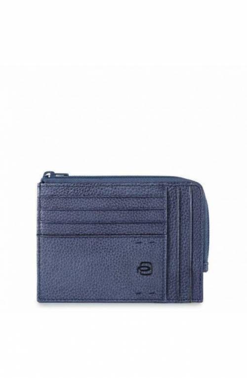 Porta carte di credito PIQUADRO P15Plus Unisex Pelle Blu - PU1243P15S-BLU2