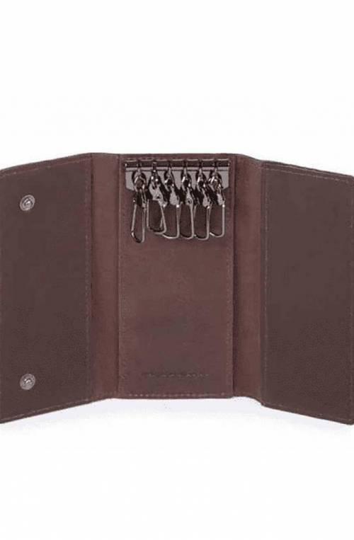PIQUADRO Keyrings Brown Leather Unisex - PC4521W95-TM