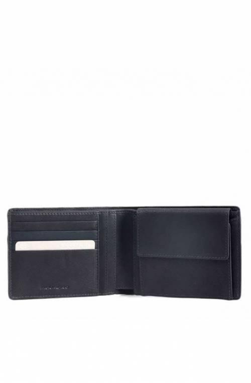 PIQUADRO Wallet Male Leather Black RFID anti-fraud protection - PU257W95R-N