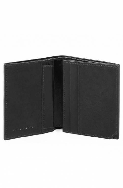 PIQUADRO Wallet VOSTOK Male Leather Black RFID anti-fraud protection - PU3244W95R-N