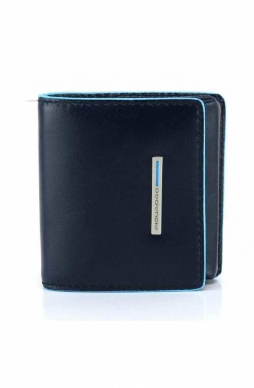 PIQUADRO Münzgeldbeutel BLUE SQUARE Unisex Leder Blau - PU2634B2-BLU2