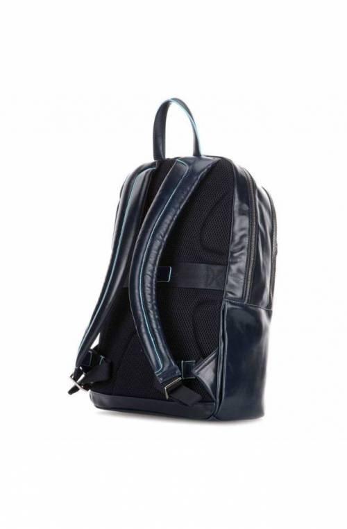 PIQUADRO Backpack Male Leather Blue - CA4762B2-BLU2