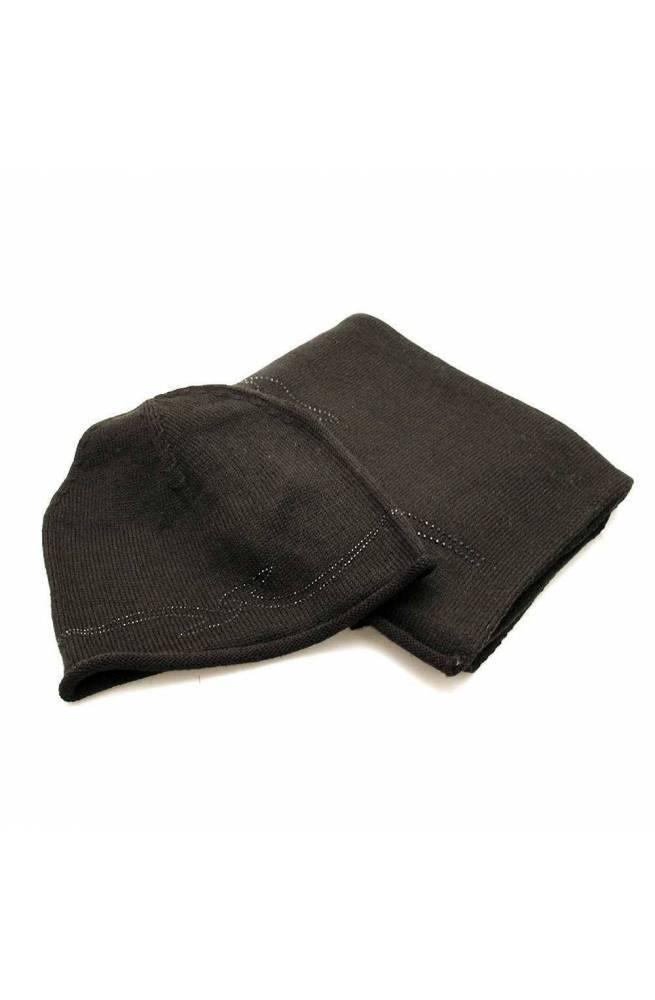 Accessori TRUSSARDI JEANS Sciarpa+cappello Nero Strass Misto lana - 59Y000049Y099997K299