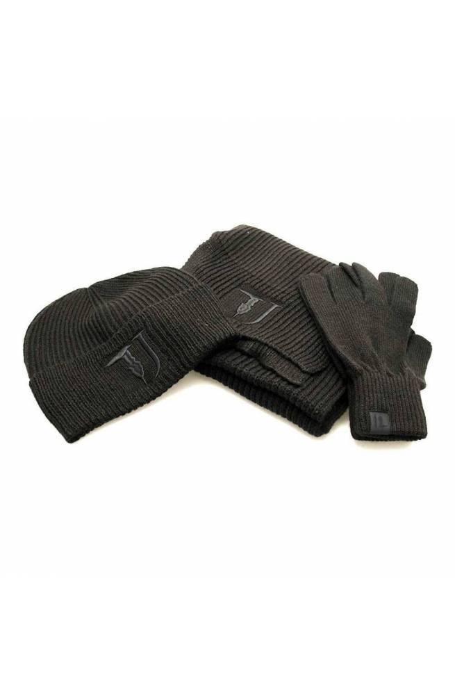 Accessori Viaggio TRUSSARDI JEANS KNIT COSTA Sciarpa+cappello+guanti Nero Misto lana - 57Y000029Y099998K299
