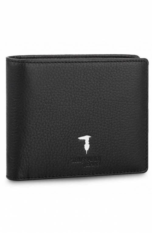 TRUSSARDI JEANS Wallet FLAP Male Leather Black - 71W000012P000181K299