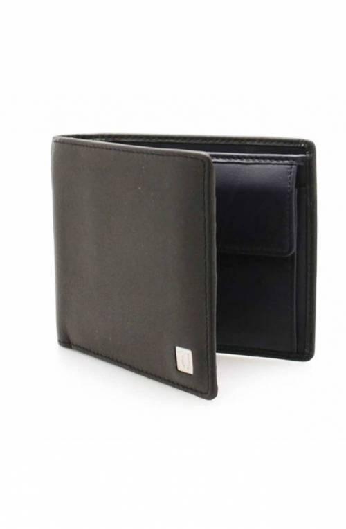 TRUSSARDI JEANS Wallet Male Leather Black-blue - 71W000012P000182K303
