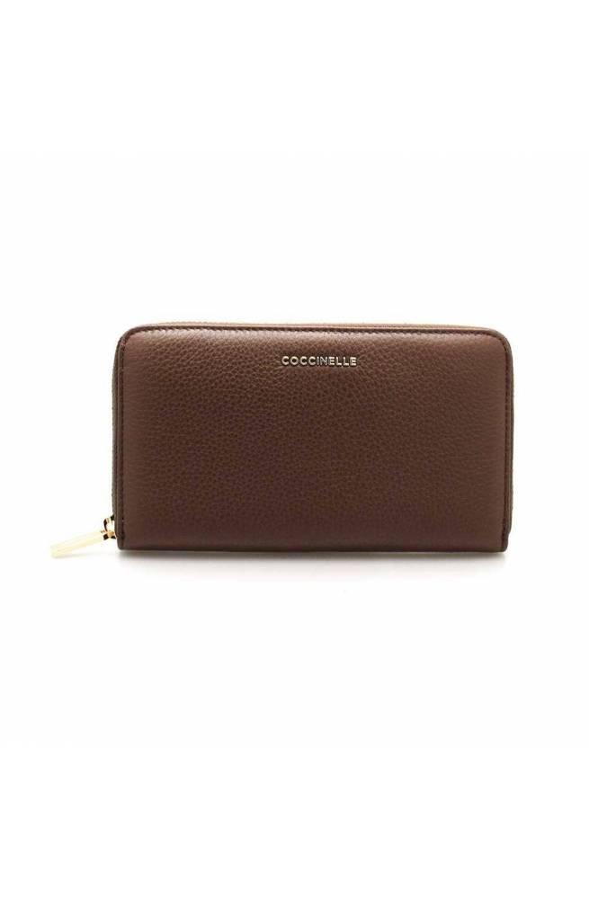 Portafoglio COCCINELLE METALLIC SOFT Donna Pelle Cioccolato - E2FW5113201W05