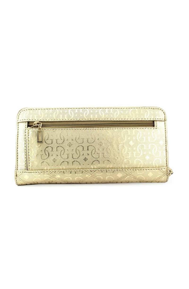 GUESS Astrid SLG Large Zip Around Geldbörse Gold Gold