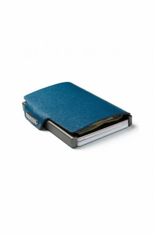 Portafoglio Mondraghi Saffiano Blu - MC-31100
