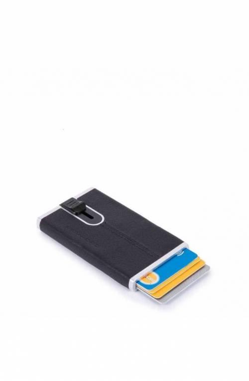 Portacarte PIQUADRO Black Square sliding system Blu - PP4825B3R-BLU