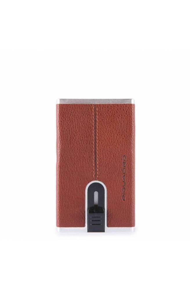 Portacarte PIQUADRO Black Square sliding system Cuoio - PP4825B3R-CU
